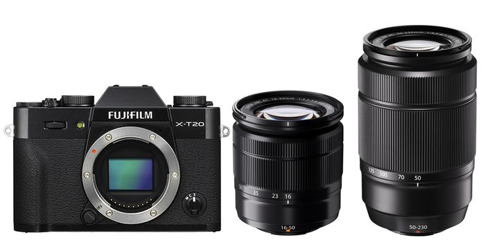 Für weitere Info hier klicken. Artikel: Fujifilm X-T20 + XC16-50 mm II + XC50-230 mm II Fujifilm X schwarz