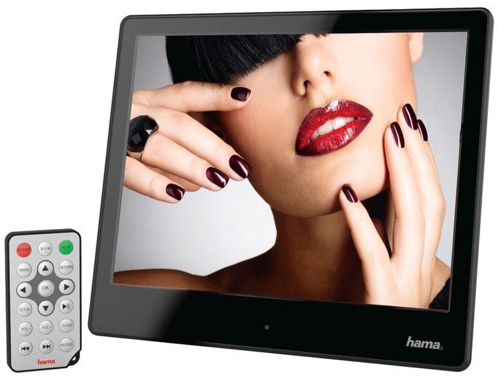 hama digitaler bilderrahmen 8slp 20 32 cm 8 0 slim acryl musik video 118578. Black Bedroom Furniture Sets. Home Design Ideas
