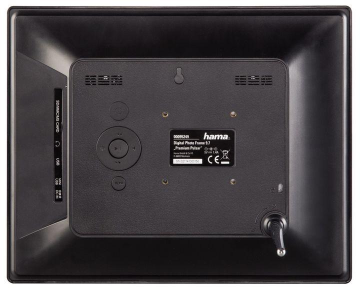 hama digitaler bilderrahmen 97p schwarz 95249. Black Bedroom Furniture Sets. Home Design Ideas