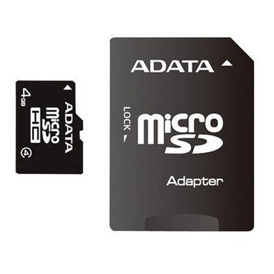 Für weitere Info hier klicken. Artikel: Adata Speicherkarte MicroSDHC 4 GB