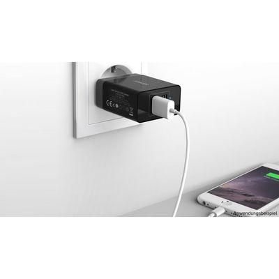 Für weitere Info hier klicken. Artikel: Anker 24W 2-Port USB Charger EU Black & Micro cable