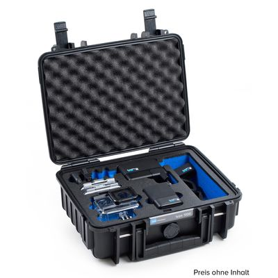 Für weitere Info hier klicken. Artikel: B&W outdoor.cases Type 1000 für GoPro Hero 5 / 6 / 7 schwarz