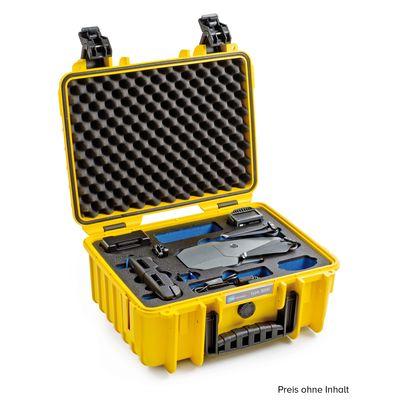 Für weitere Info hier klicken. Artikel: B&W outdoor.cases Type 3000 mit DJI Mavic Pro / Platinum / Flye More Combo Inlay gelb