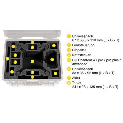 Für weitere Info hier klicken. Artikel: B&W outdoor.cases Type 6000 mit DJI Phantom 4 Inlay grau