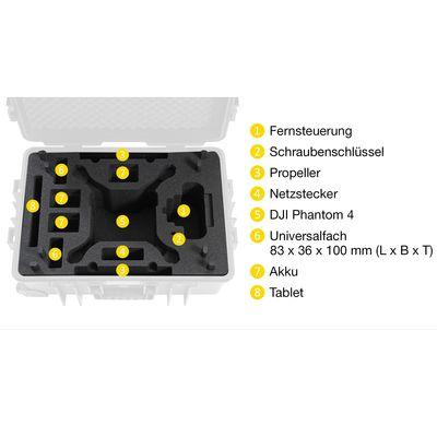 Für weitere Info hier klicken. Artikel: B&W outdoor.cases Type 6700 mit DJI Phantom 4 Inlay schwarz