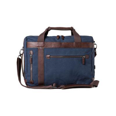Für weitere Info hier klicken. Artikel: Barber Shop Convertible Bag Undercut blue canvas - dark brown leather