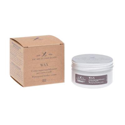 Für weitere Info hier klicken. Artikel: Barber Shop Water repellent Leather Wax TIN – 100 ml