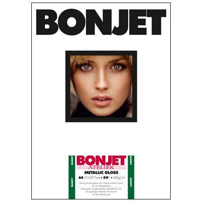 Für weitere Info hier klicken. Artikel: Bonjet ATE Metallic Gloss A4 260g 50 Blatt