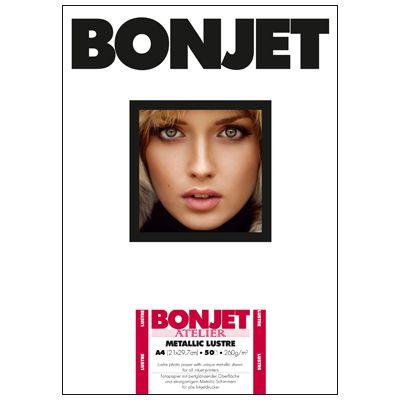 Für weitere Info hier klicken. Artikel: Bonjet ATE Metallic Lustre A4 260g 50 Blatt