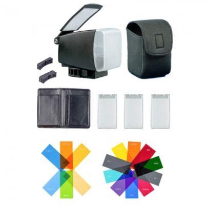 Für weitere Info hier klicken. Artikel: BounceLite Adventure Multifunktions-Lichtformer für Aufsteckblitze - vereint Softbox, Bounce-Reflektor und Farbfilterhalter - inkl. 16 Filterfolien