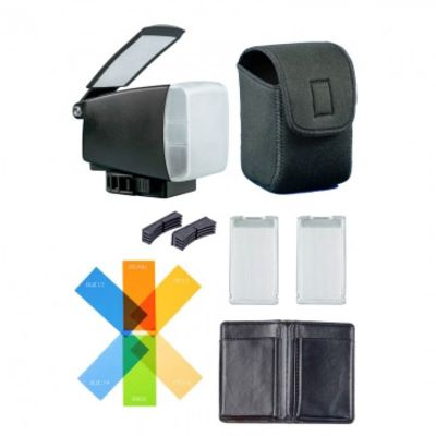 Für weitere Info hier klicken. Artikel: BounceLite Venue Multifunktions-Lichtformer für Aufsteckblitze - vereint Softbox, Bounce-Reflektor und Farbfilterhalter - inkl. 6 CT-Farbfiltern