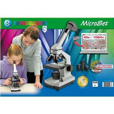 bresser mikroskop set 40x 1024x m koffer 8855000. Black Bedroom Furniture Sets. Home Design Ideas