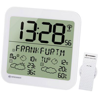 Für weitere Info hier klicken. Artikel: Bresser MyTime Meteotime LCD Wetter-Wanduhr weiß