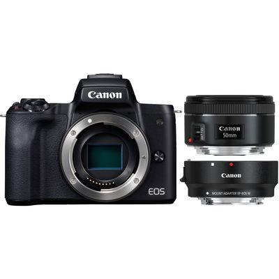 Für weitere Info hier klicken. Artikel: Canon EOS M50 + EF-M 15-45mm + Objektivadapter EF-EOS M + EF 1,8/50 STM