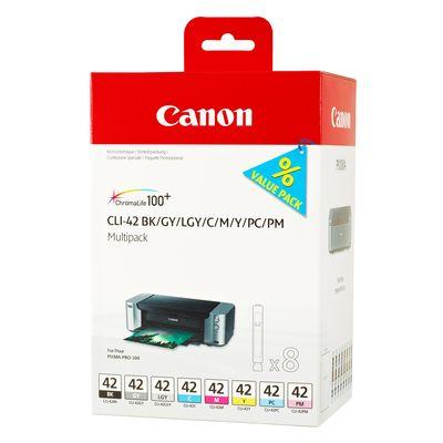 Für weitere Info hier klicken. Artikel: Canon CLI_42 Multipack BK/C/M/Y/PM/PC/GY/LGY