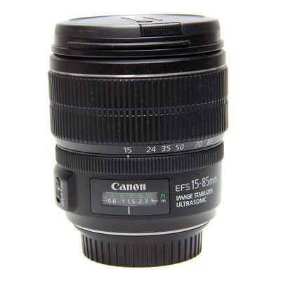 Für weitere Info hier klicken. Artikel: Canon EF-S 15-85mm f/3,5-5,6 IS USM schwarz -Second Hand- Canon EF-S