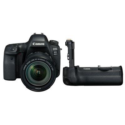 Für weitere Info hier klicken. Artikel: Canon EOS 6D Mark II, EF 24-105 1:3,5-5,6 IS STM + Akkugriff BG-E21