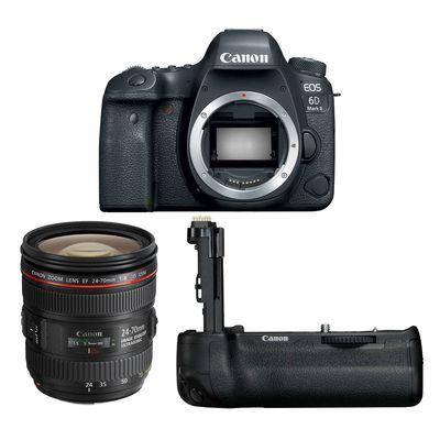 Für weitere Info hier klicken. Artikel: Canon EOS 6D Mark II, EF 24-70 1:4 IS USM + Akkugriff BG-E21