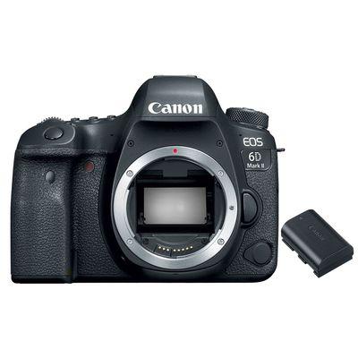 Für weitere Info hier klicken. Artikel: Canon EOS 6D Mark II Gehäuse + Ersatzakku LP-E6N