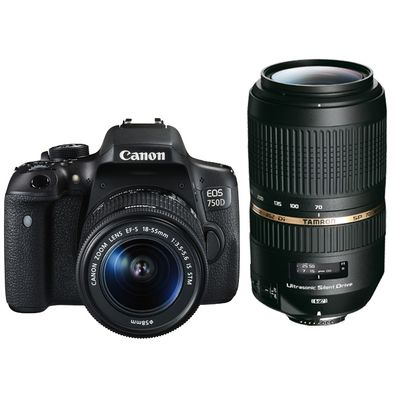 Für weitere Info hier klicken. Artikel: Canon EOS 750D,EF-S 3,5-5,6/18-55 IS STM + Tamron AF 4,0-5,6/70-300 Di VC USD