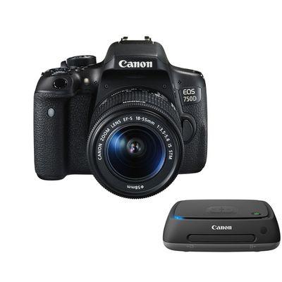 Für weitere Info hier klicken. Artikel: Canon EOS 750D + EF-S 3,5-5,6/18-55 mm IS STM + Connect Station CS100