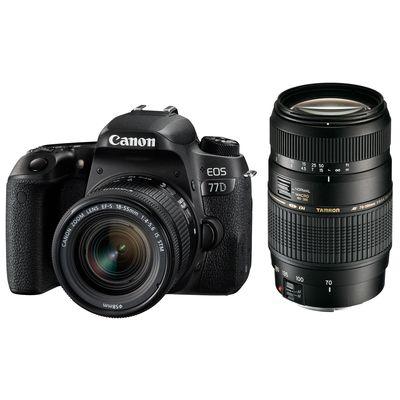 Für weitere Info hier klicken. Artikel: Canon EOS 77D Kit inkl EF-S 18-55mm f/4,0-5,6 IS STM + Tamron AF 70-300mm f/4,0-5,6 Di LD Mac.