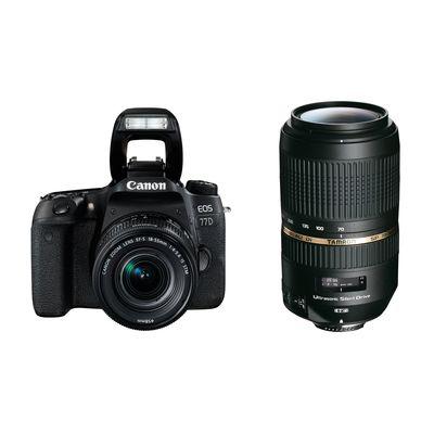 Für weitere Info hier klicken. Artikel: Canon EOS 77D Kit inkl EF-S 4,0-5,6/18-55 mm IS STM + Tamron SP AF 4,0-5,6/70-300 Di VC USD Canon EF-S