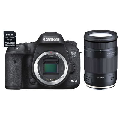 Für weitere Info hier klicken. Artikel: Canon EOS 7D Mark II Kit, Body + WiFi Adapter W-E1 + Tamron AF 3,5-6,3/18-400 Di II VC HLD