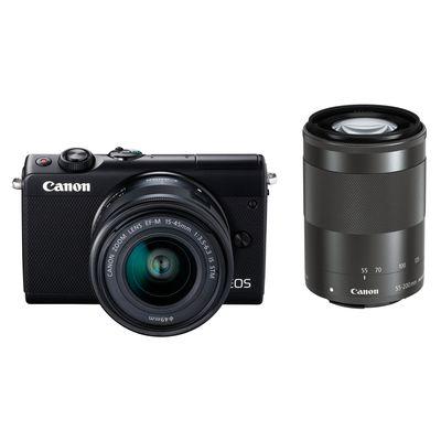 Für weitere Info hier klicken. Artikel: Canon EOS M100 EF-M 15-45 IS STM + EF-M 55-200 IS STM schwarz