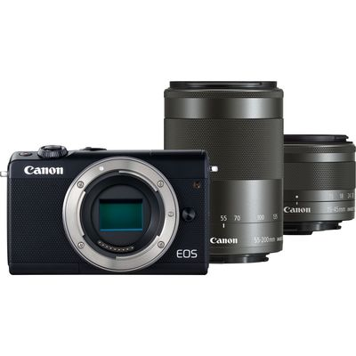 Für weitere Info hier klicken. Artikel: Canon EOS M100 EF-M 15-45 IS STM + EF-M 55-200 IS STM