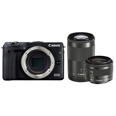 Für weitere Info hier klicken. Artikel: Canon EOS M3 EF-M 15-45 IS STM + EF-M 4,5-6,3/55-200 IS STM Canon EF-M
