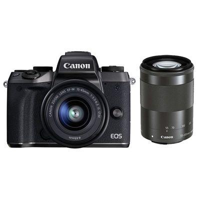 Für weitere Info hier klicken. Artikel: Canon EOS M5,EF-M 3,5-6,3/15-45 IS STM + EF-M 4,5-6,3/55-200 IS STM schwarz