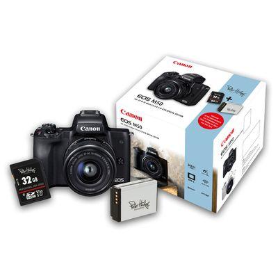 Für weitere Info hier klicken. Artikel: Canon EOS M50+EF-M 15-45 mm PH-Kit, Peter Hadley Special Kit schwarz