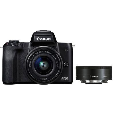 Für weitere Info hier klicken. Artikel: Canon EOS M50 + EF-M 3,5-6,3/15-45 IS STM + EF-M 2,0/22 STM schwarz