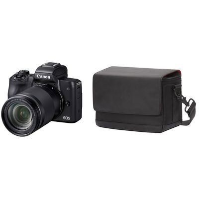 Für weitere Info hier klicken. Artikel: Canon EOS M50 + EF-M 3,5-6,3/18-150 IS STM + Canon Schultertasche SB100 schwarz Canon EF-M