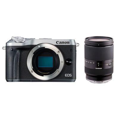 Für weitere Info hier klicken. Artikel: Canon EOS M6 + Tamron AF 3.5-6.3/18-200 Di III VC silber-schwarz Canon EF-M