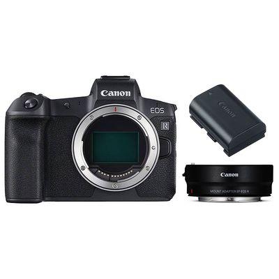Für weitere Info hier klicken. Artikel: Canon EOS R + Adapter EF-EOS R + Batteriegriff BG-E22 + Akku LP-E6N