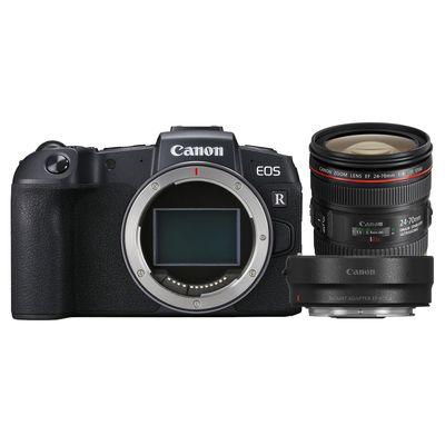 Für weitere Info hier klicken. Artikel: Canon EOS RP + EF 24-70mm f/4,0 L IS USM + Adapter EF-EOS R Canon RF