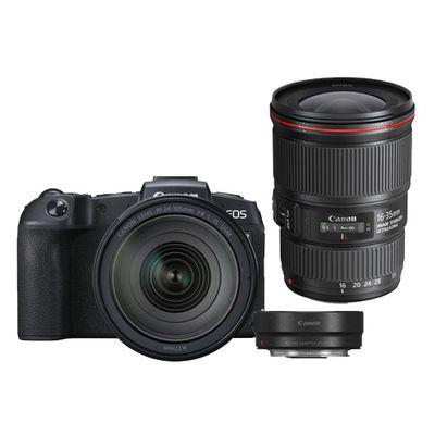 Für weitere Info hier klicken. Artikel: Canon EOS RP + RF 24-105mm f/4 L IS USM + Adapter EF-EOS R + EF 16-35mm f/4,0 L IS USM