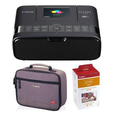 Für weitere Info hier klicken. Artikel: Canon Selphy CP1200 Set mit RP-108 Papier und Druckertasche schwarz