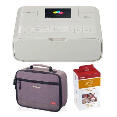 Für weitere Info hier klicken. Artikel: Canon Selphy CP1200 Set mit RP-108 Papier und Druckertasche weiß
