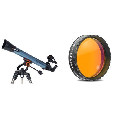 Für weitere Info hier klicken. Artikel: Celestron Inspire 70AZ + Okular 4mm SR 1 1/4 + Orangefilter