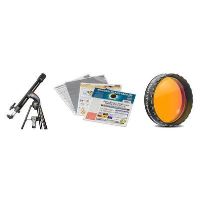 Für weitere Info hier klicken. Artikel: Celestron NexStar 90GT + Sonnenfilterfolie + Orangefilter