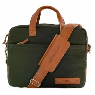 Für weitere Info hier klicken. Artikel: Compagnon Tasche the portfolio grün-braun