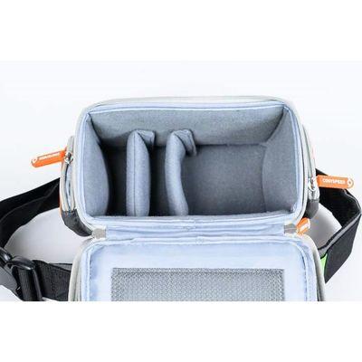 Für weitere Info hier klicken. Artikel: Cosyspeed Camslinger Outdoor Kameratasche mit Hüftgürtel für Systemkameras und kleine DSLR-Kameras Vers2 grau