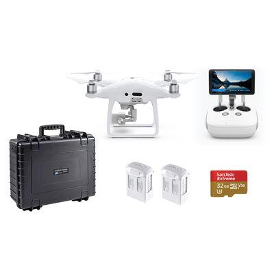 Für weitere Info hier klicken. Artikel: DJI Phantom 4 Pro Komplettset inkl. 2x Zusatzakku, B&W Koffer, SanDisk microSDHC Extreme Video 90MB/s +Adapter 32GB schwarz