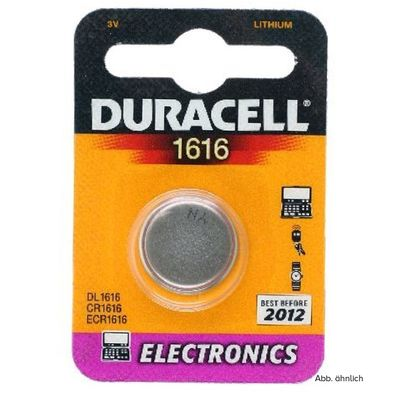Für weitere Info hier klicken. Artikel: Duracell Batterie CR1616