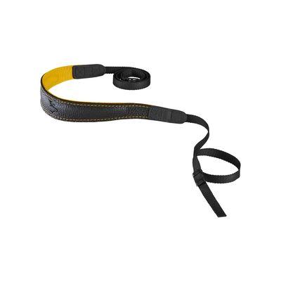 Für weitere Info hier klicken. Artikel: EDDYCAM 33mm Elchleder Kameragurt FASHION-2- schwarz-gelb