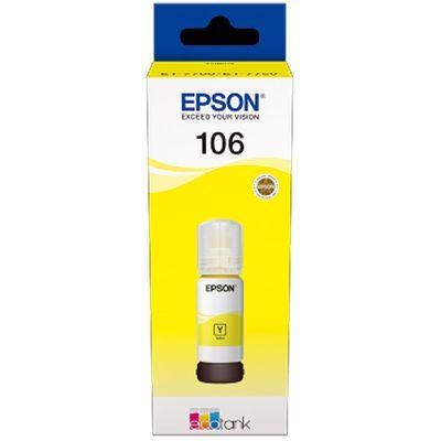 Für weitere Info hier klicken. Artikel: Epson EcoTank yellow T 106 70 ml T 00R4