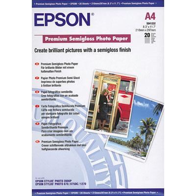 Für weitere Info hier klicken. Artikel: Epson Papier Premium A4 20Bl S041332